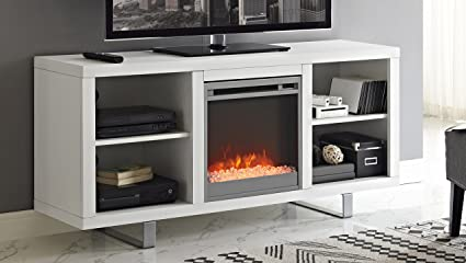 Amazon Com We Furniture 58 Simple Modern Fireplace Tv Console