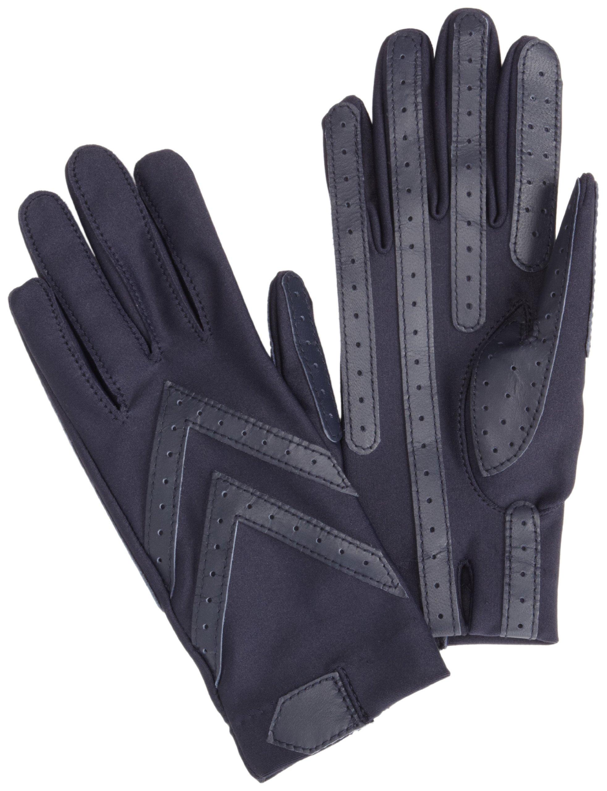 Isotoner Women's Spandex Shortie Unlined Glove,Navy,One Size