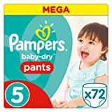 Pampers - Baby Dry Pants - Couches Taille 5 (11-18 kg) - Mega Pack (x72 culottes)