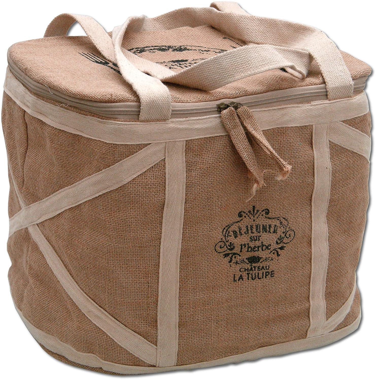 Chateau La Tulipe Picknickkorb gro/ß Picknicktasche Tasche f/ür EIN Picknick mit Charme ohne Teller etc. Picknickkoffer
