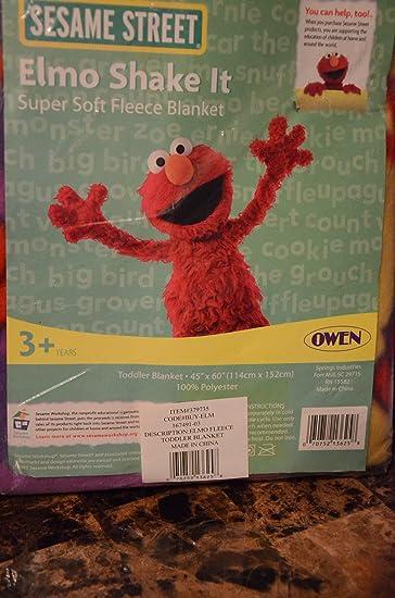 Amazon.com  Sesame Street Elmo Fleece Toddler Blanket 45 X 60  Baby 53d19e3f0