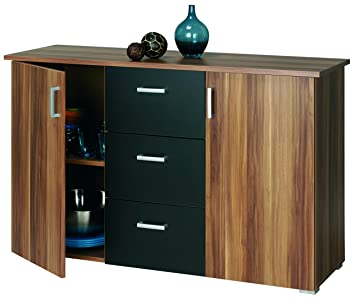 sideboard nussbaum schwarz. Black Bedroom Furniture Sets. Home Design Ideas