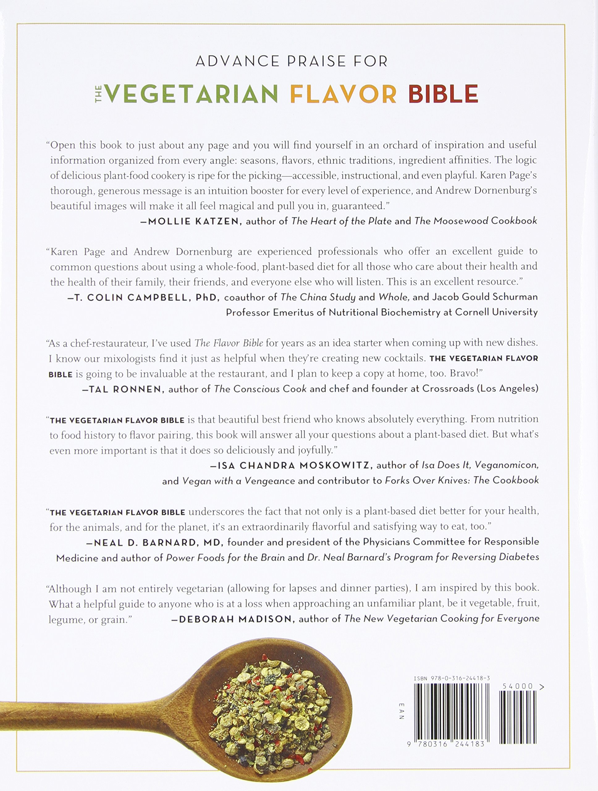 The Vegetarian Flavor Bible: The Essential Guide to Culinary Creativity with Vegetables, Fruits, Grains, Legumes, Nuts, Seeds, and More, Based on the Wisdom of Leading American Chefs by Little Brown and Company
