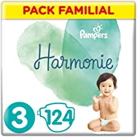 Pampers - Harmonie - Couches Taille 3 (6-10 kg) - Pack Familial(124 couches)