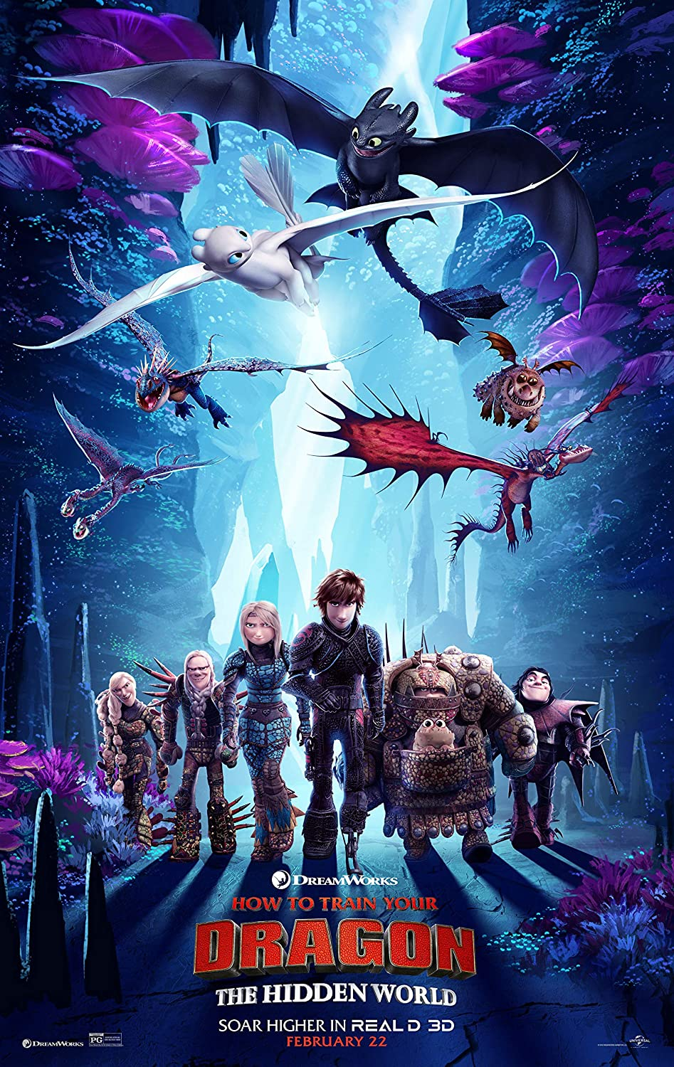 newhorizon How to Train Your Dragon The Hidden World Movie Poster 14'' x 23'' NOT A DVD
