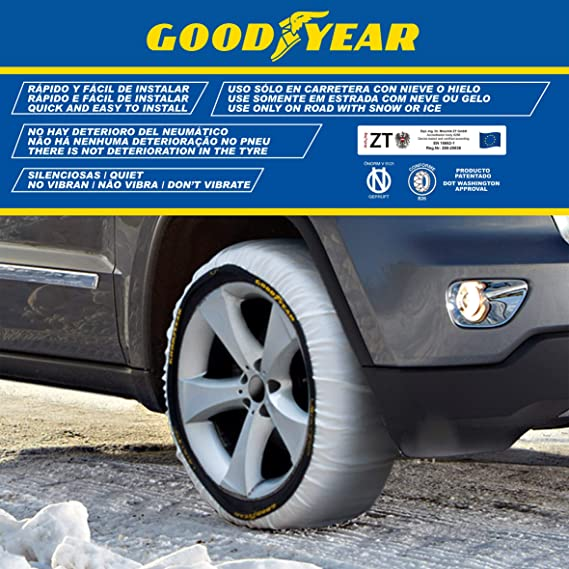 Goodyear God8012 Textil Schneeketten Ultra Grip Größe L 2er Set L Set Of 2 Auto