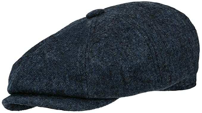 f4bbe8ceac982 Rooster Cobalt Wool Tweed Newsboy Gatsby Cap Ivy Golf Hat Driving Cabbie ( Large)