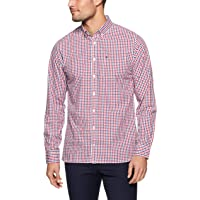 Tommy Hilfiger Men's Gingham Check Shirt, Medieval Blue/Haute Red