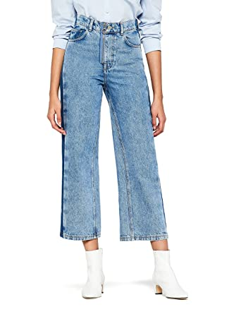 find. Women s Wide leg High Waist Cropped Jeans  Amazon.co.uk  Clothing c05e9452cc