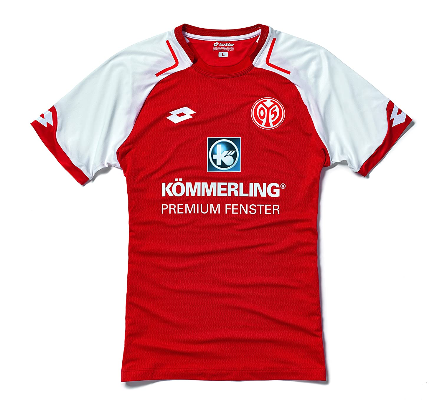 359381e5149feb Amazon.com   Lotto 2017-2018 FSV Mainz 05 Home Football Shirt   Sports    Outdoors