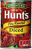 Hunt's Fire Roasted Diced Tomatoes, 14.5 Oz, Pack of 12