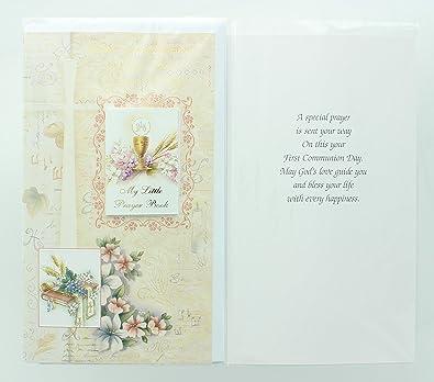 Tarjeta de felicitación - primera Comunión. Incluye sobres y ...