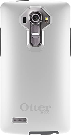 pretty nice 91504 3be28 OtterBox Symmetry Case for LG G4 - Retail Packaging - White/Gunmetal Grey  (Not Compatible with Leather LG G4)