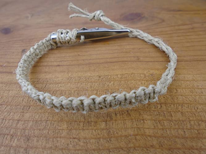 Amazon Com Hemp Bracelet Anklet Brown 6 8 Inches Adjustable Macrame