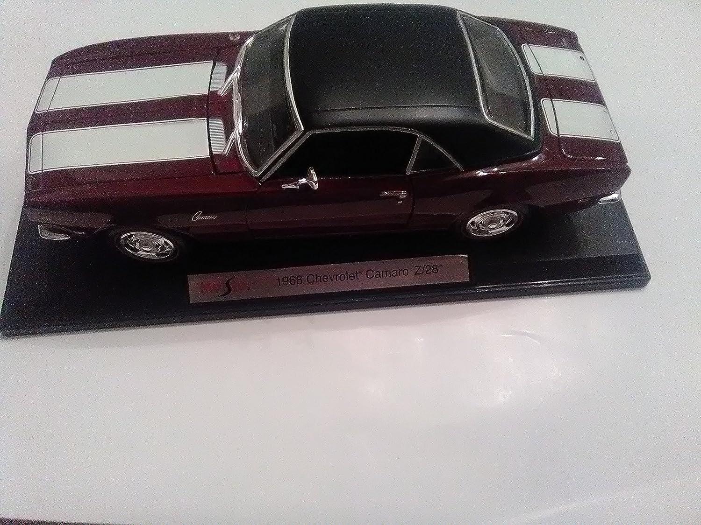New 118 W B Special Edition Maroon 1968 Chevrolet Camaro Z 28 Diecast Model Car By Maisto Toys Games