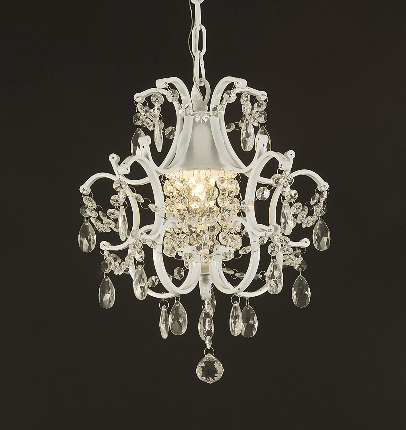 Jac D Lights J10 592 1 Wrought Iron Crystal Chandelier 14x11x1
