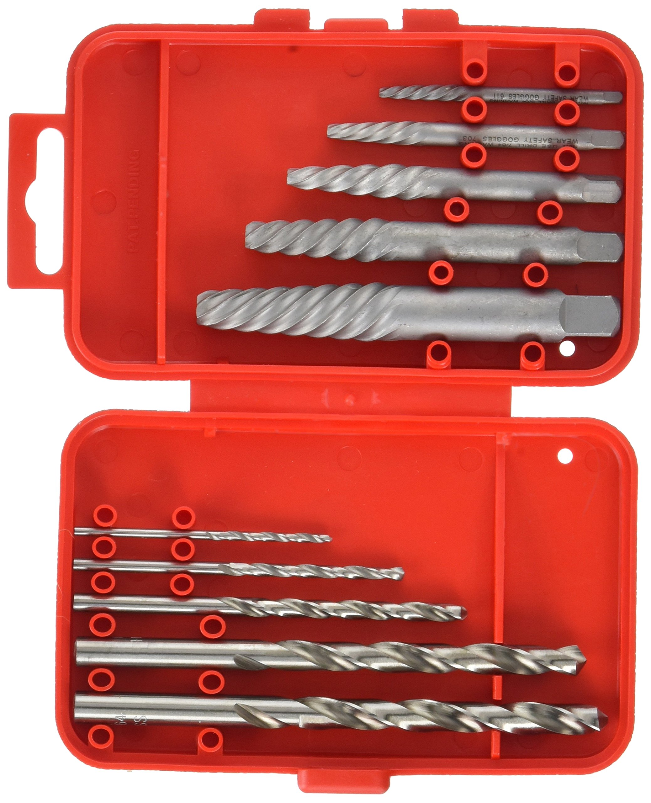 Vermont American 21829 Spiral Flute Screw Extractor and Drill Bit Set, Red, 10-Piece by Vermont American