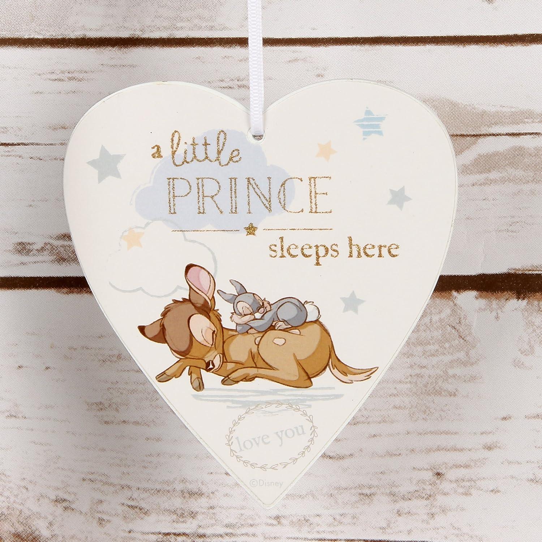 cadeau pour petit gar/çon Plaque Disney en forme de c/œur /«/Little Prince Sleeps Here//»