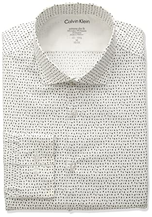 Calvin Klein Hombres 33K3781 Camisa de Verter - Gris - 43 cm- 44 ...