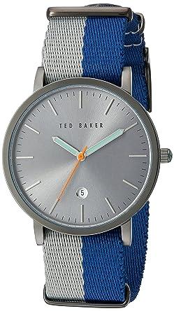 1076c65e7 Ted Baker Mens Blue Fabric Quartz Analog TE10026447  Ted Baker London   Amazon.co.uk  Watches