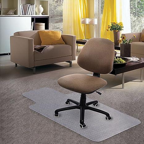 Superieur Kuyal Carpet Chair Mat, 48u0026quot; X 36u0026quot; PVC Home Office Desk Chair Mat