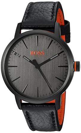 ba4bf3146a9039 Image Unavailable. Image not available for. Color: HUGO BOSS Men's  Copenhagen Stainless Steel Quartz Watch with Leather Strap ...
