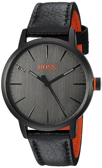 Hugo Boss de Hombre de Copenhague de Cuarzo Reloj Casual de Piel y Acero Inoxidable,