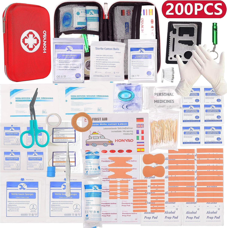 Botiquín de Primeros Auxilios marca HONYAO +200 artículos