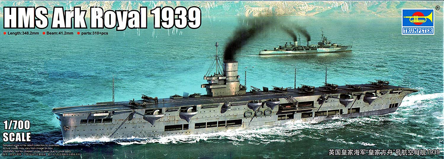 Amazon.com: Trumpeter TRP06713 1:700 HMS Ark Royal 1939 [Model ...