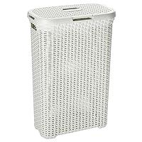 Curver Slim Rattan-Look Laundry Basket