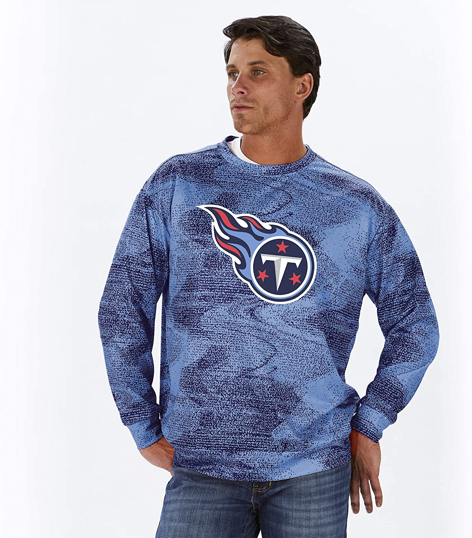 NFL Zubaz Mens Crew Neck Sweatshirt