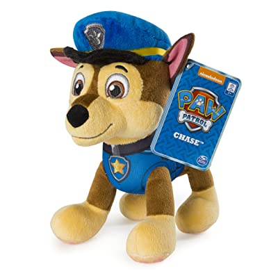 "Paw Patrol – 8"" Chase Plush Toy, Standing Plush with Stitched Detailing, for Ages 3 & Up: Toys & Games [5Bkhe1102926]"