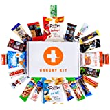 HANGRY KIT - Healthy Kit - Snack Sampler - Care Package - Gift Pack - Variety of 25 Healthy Bars, Gum, and other Oven-Baked Chips and Crisps Included - 100%