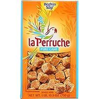 La Perruche Pure Cane Rough Cut Cubes 1 lb.10.50z(750g),Brown Sugar,1.65 Pound (Pack of 1),26.5 Ounce