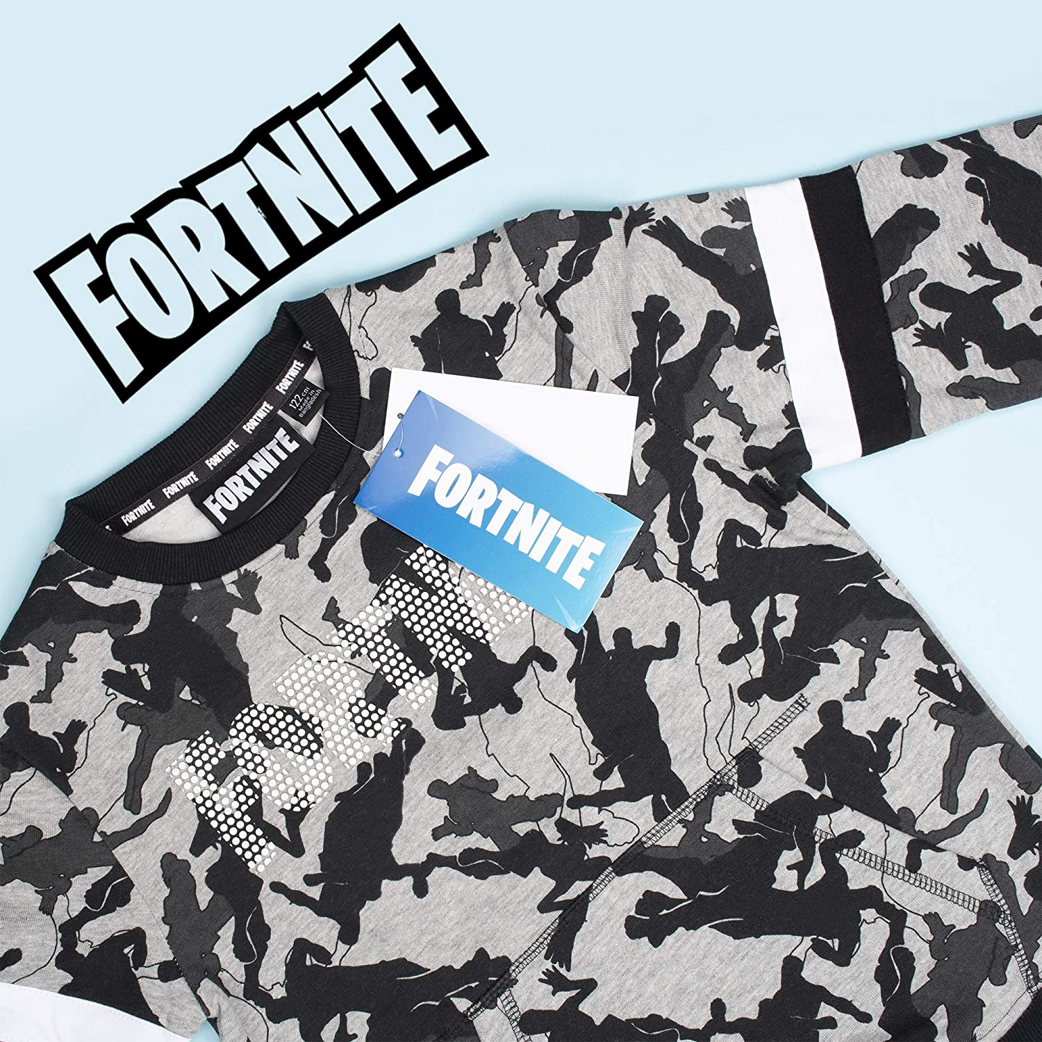 Epic games Fortnite Sweatshirt for Boys Long Sleeve Jumper Pullover for Gamers Age 6-15