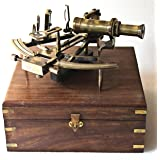 Nautical Marine Heavy German Working model Ship sextant sea collectible Antique Wooden Box Gift Item