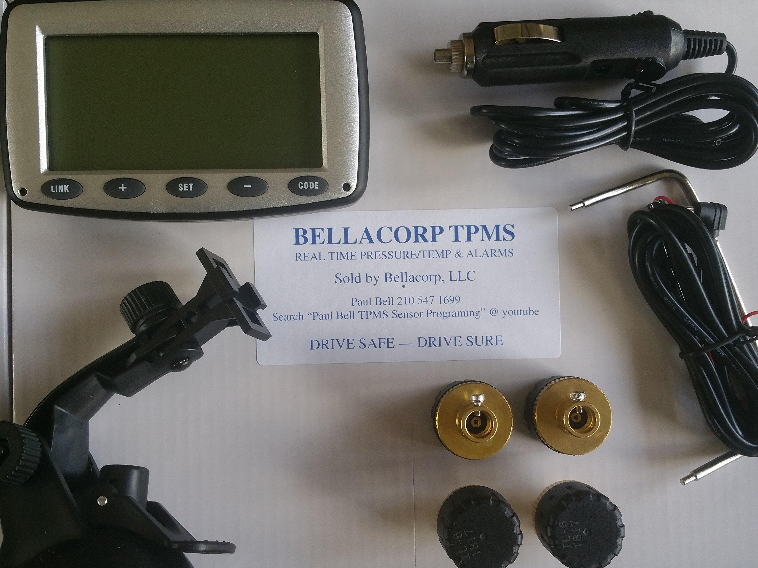 3. Bellacorp Tire Pressure Monitoring System