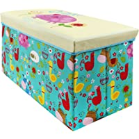 Baby Grow Children Storage Box Folding Stool Under Lid Padded Seat Large
