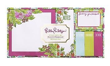 Lilly Pulitzer Sticky Note Set, Pink Lemonade (154518)