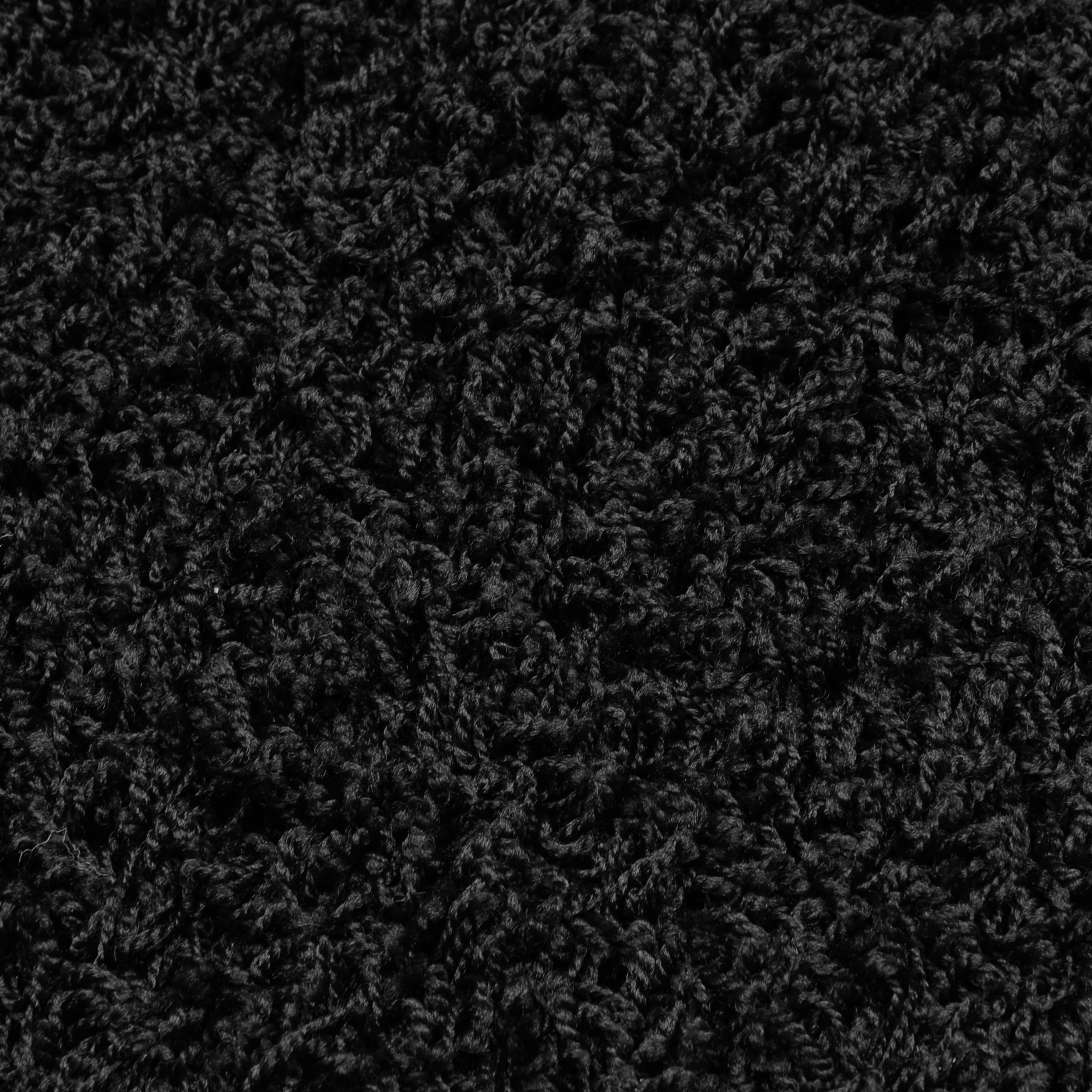 Garland Rug Southpointe Shag Area Rug, 3-Feet by 5-Feet, Black by Garland Rug (Image #2)