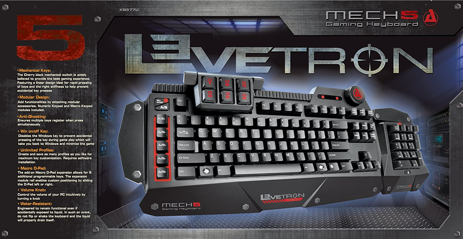 Amazon mechanical keyboard - Amazon Com Azio Levetron Mech5 Mechanical Gaming Keyboard With Cherry Black Mx Switches Kb577u Computers Accessories