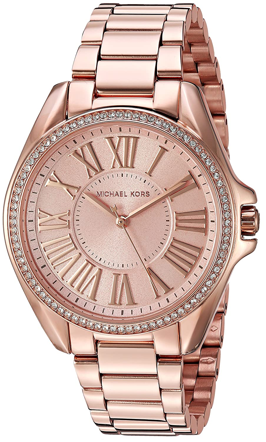 9b4eff6b84c2 Amazon.com  Michael Kors Women s Kacie Rose Gold-Tone Watch and Bracelet  Gift Set MK3569  Watches