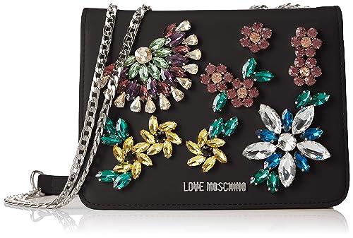 best website 12056 de468 Love Moschino Nappa Pu Nero, Women's Baguette, Black ...
