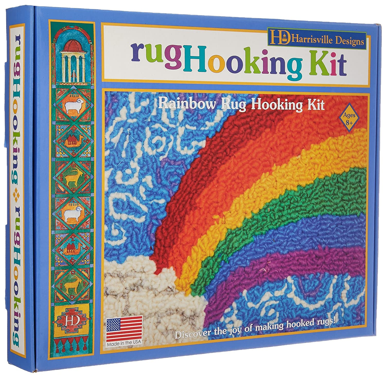 Harrisville Designs Rainbow Rug Hooking Kit 746331055684