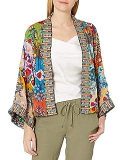 Johnny Was Womens Embroidered Shawl Collar Kimono