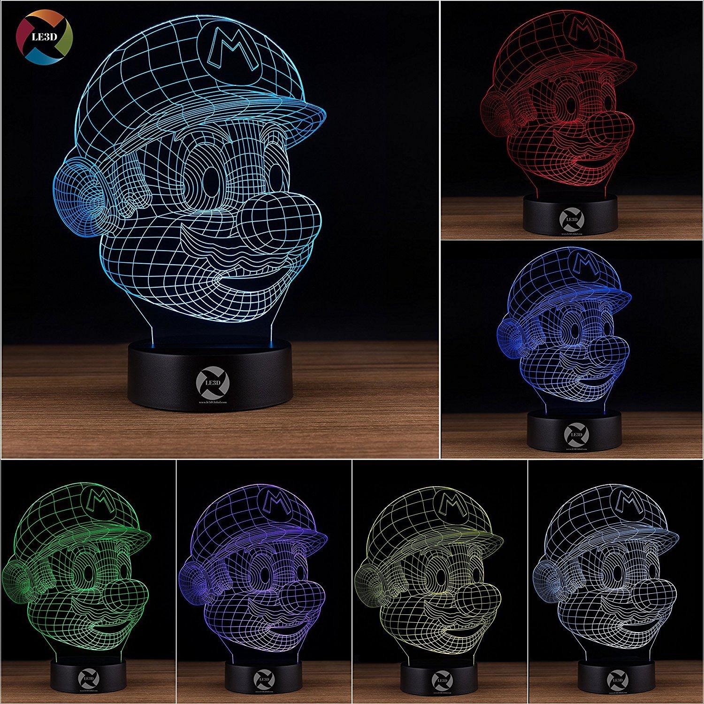 3D ナイトライト B0731KH7RY 10609 Super Mario Super Mario