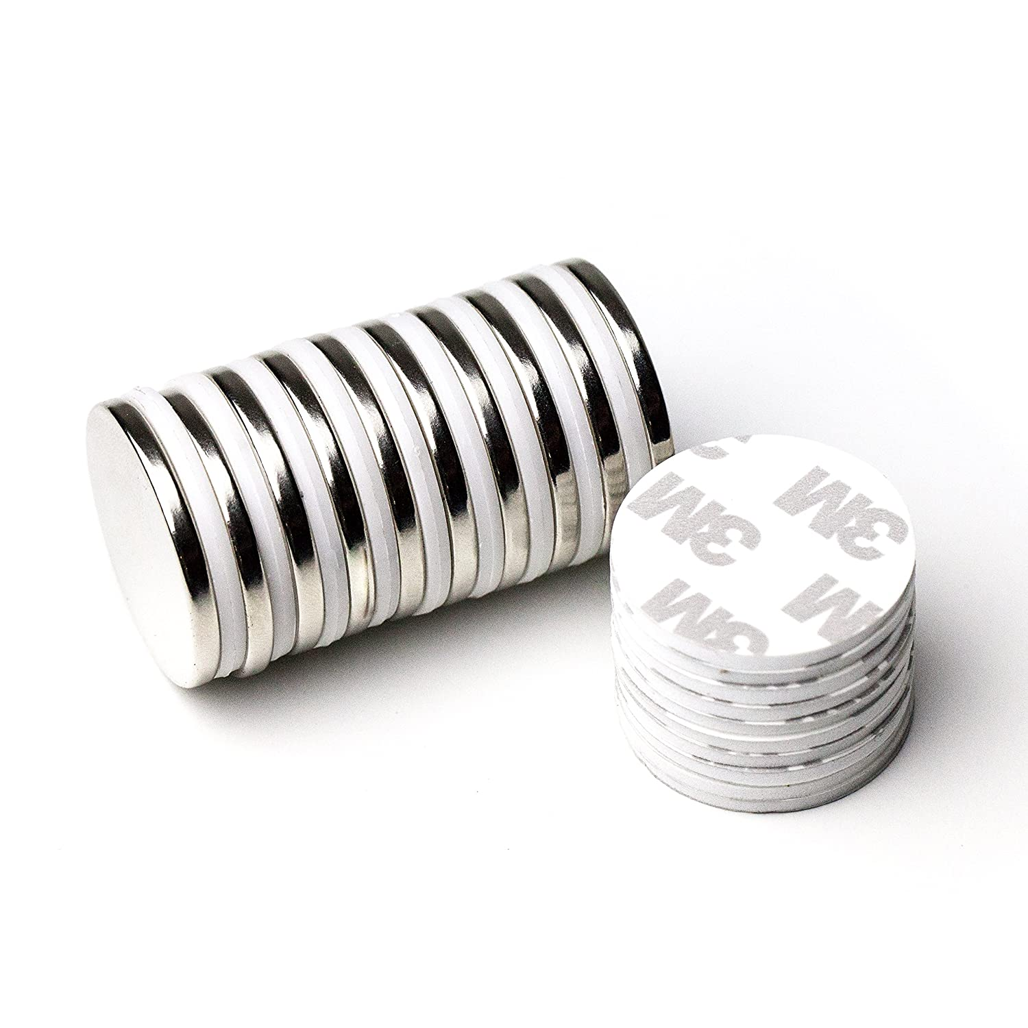"""10Pc Super Strong N42 Neodymium Magnet 1.26"""" x 1/8"""" W/3m Adhesive NdFeB Discs, The World's Strongest & Most Powerful Rare Earth Magnets by Applied Magnets"""