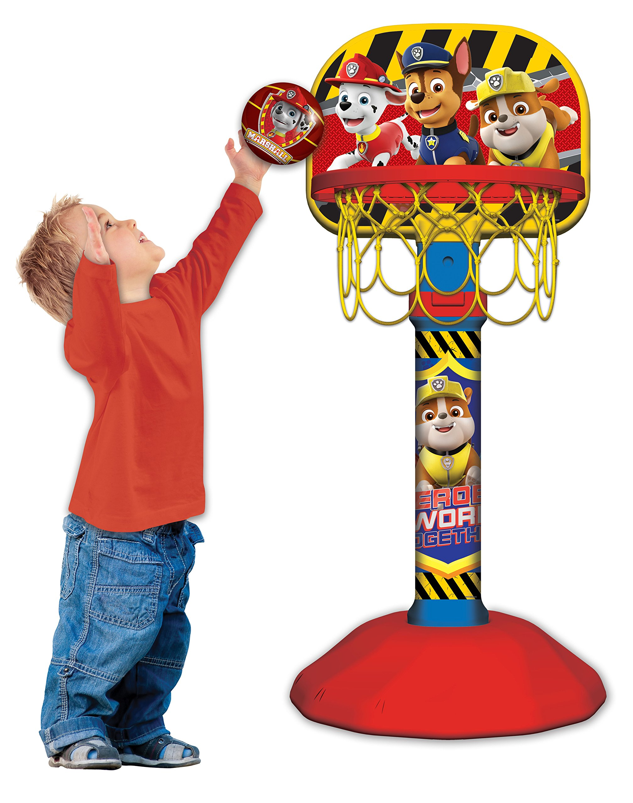 Paw Patrol Grow with Me Basketball Set for Kids | Adjustable Stand and Ball by Paw Patrol