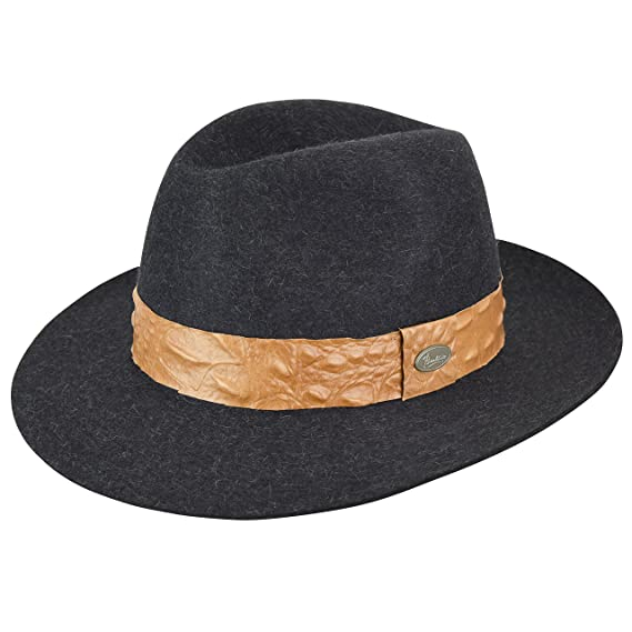 ff7bd4f325260 Barbisio Biella Fur Felt Fedora at Amazon Men s Clothing store