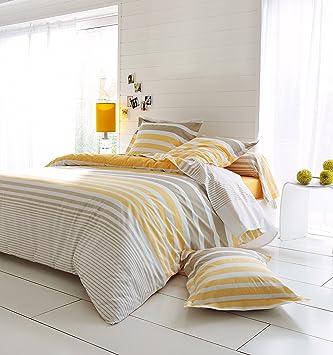 Housse De Couette Percale Stripe Narcisse 240x220